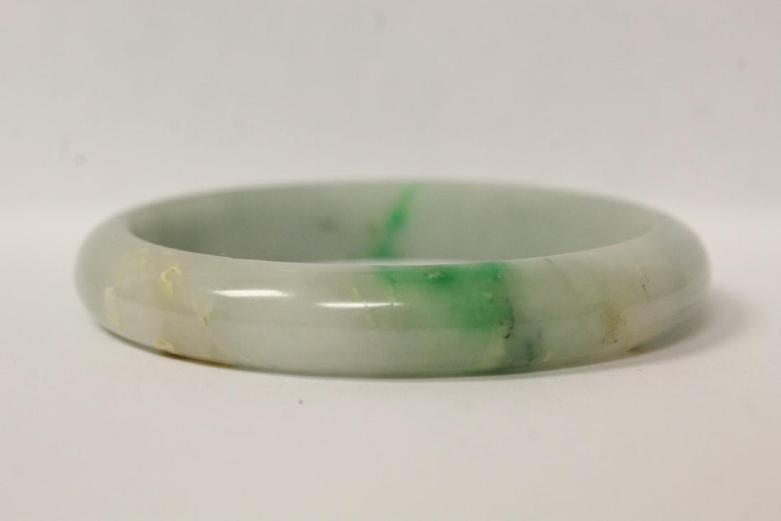 2 jadeite like bangle bracelets - 6