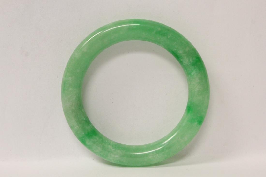 2 jadeite like bangle bracelets - 7