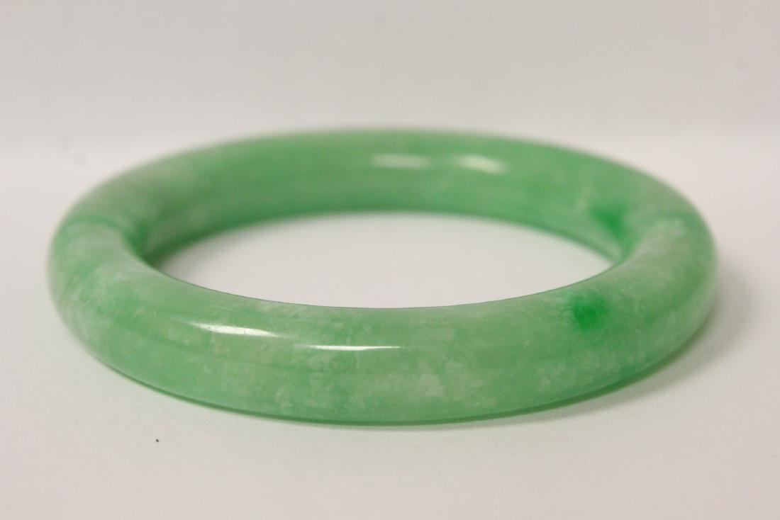 2 jadeite like bangle bracelets - 8
