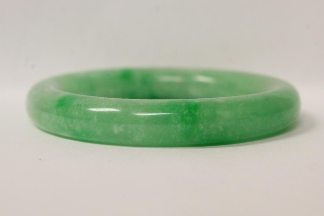 2 jadeite like bangle bracelets - 9