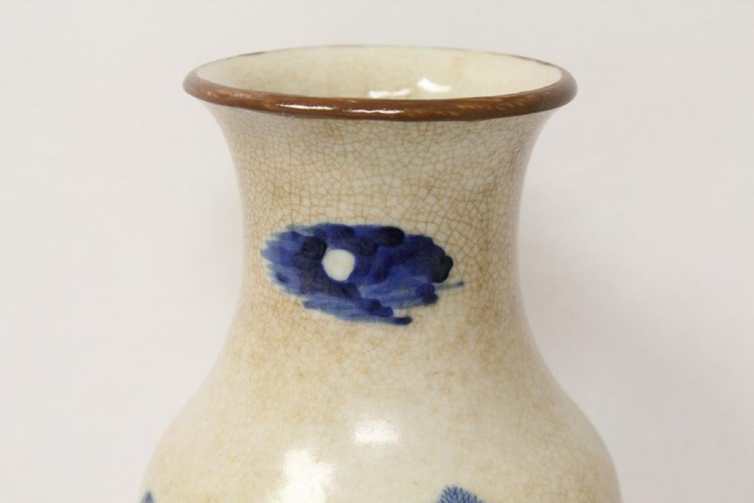 Chinese antique crackle porcelain vase - 3