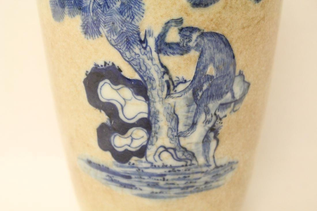 Chinese antique crackle porcelain vase - 7