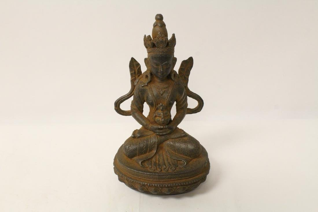 Chinese cast iron sculpture