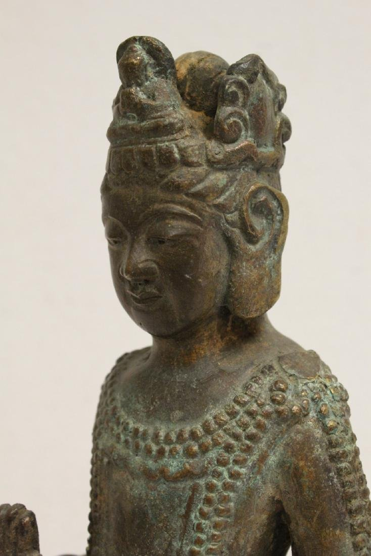Chinese bronze sculpture of Guanyin - 10
