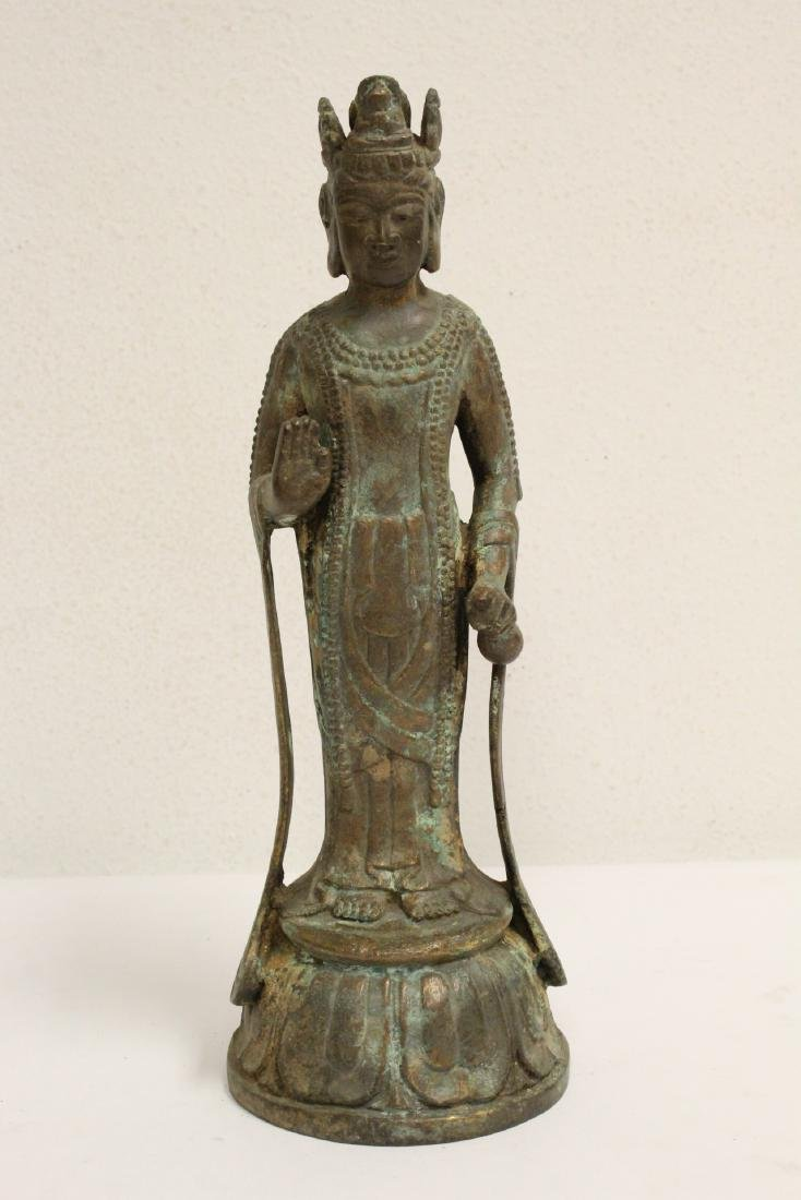 Chinese bronze sculpture of Guanyin