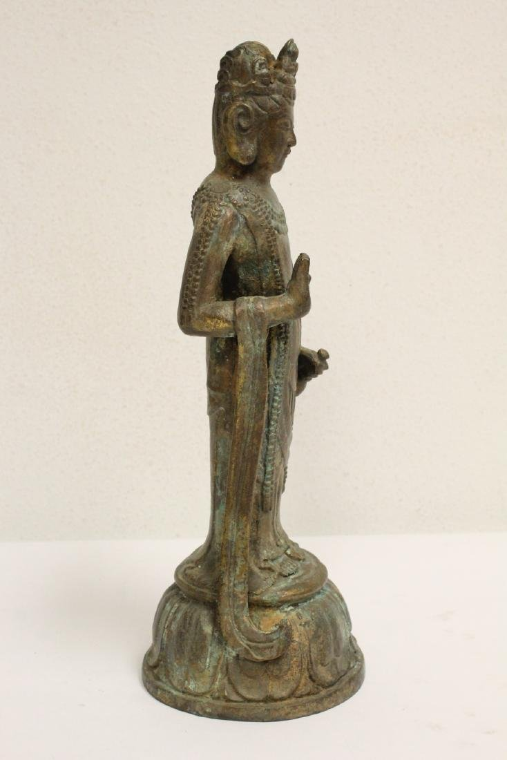 Chinese bronze sculpture of Guanyin - 6
