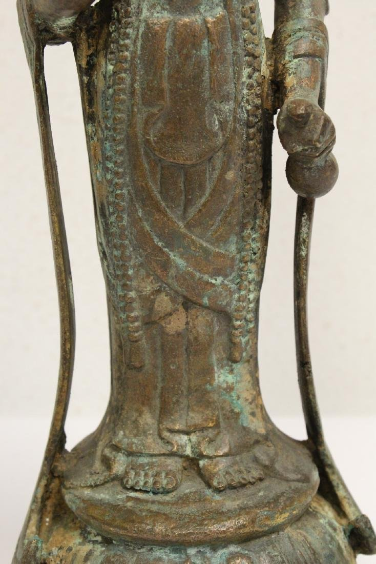 Chinese bronze sculpture of Guanyin - 8