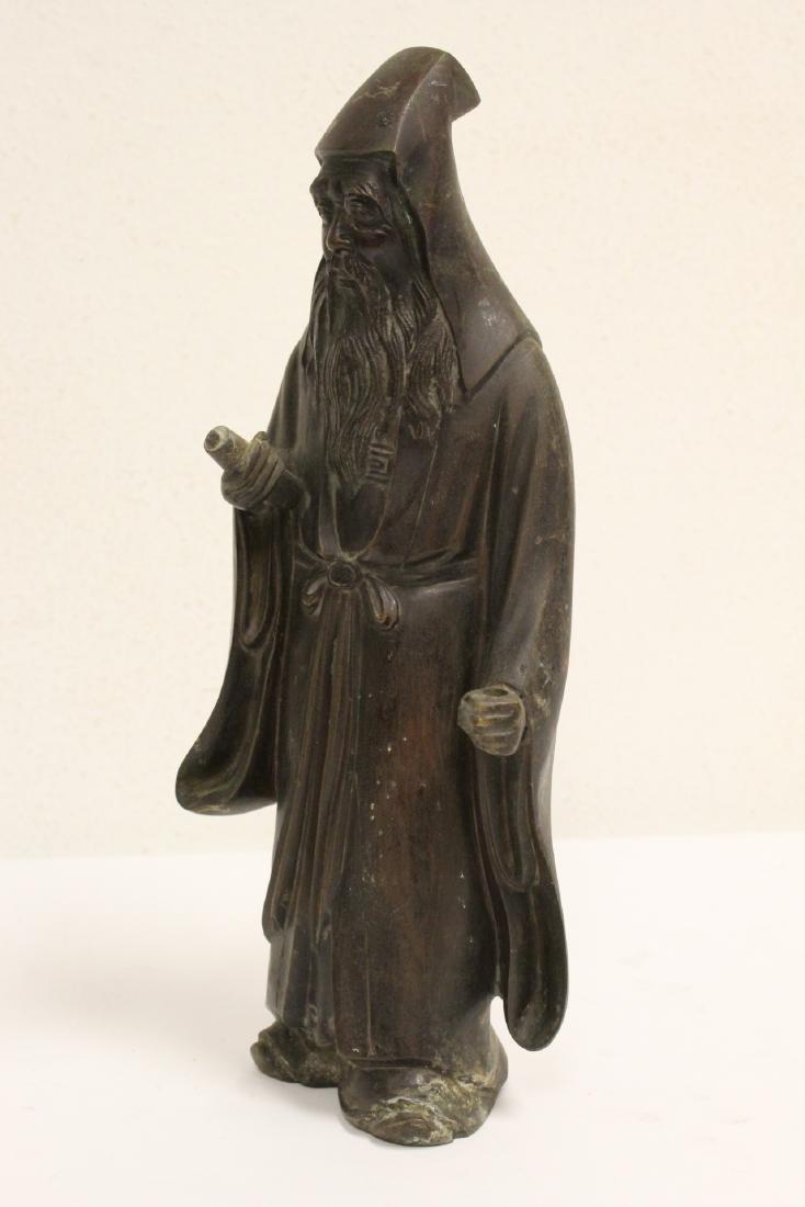 Bronze sculpture of scholar - 2