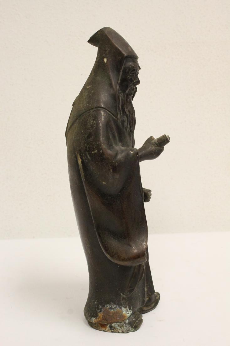 Bronze sculpture of scholar - 5