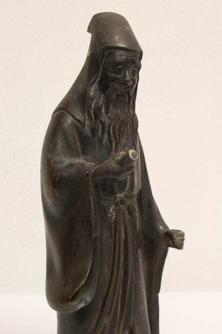 Bronze sculpture of scholar - 6