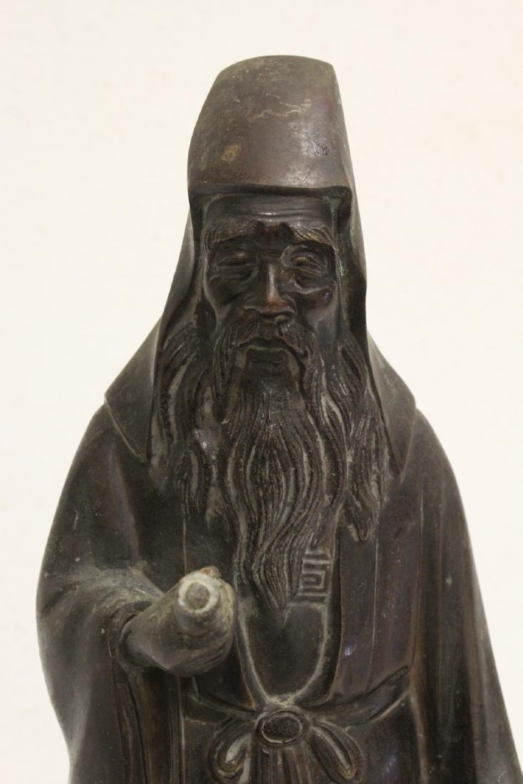 Bronze sculpture of scholar - 7