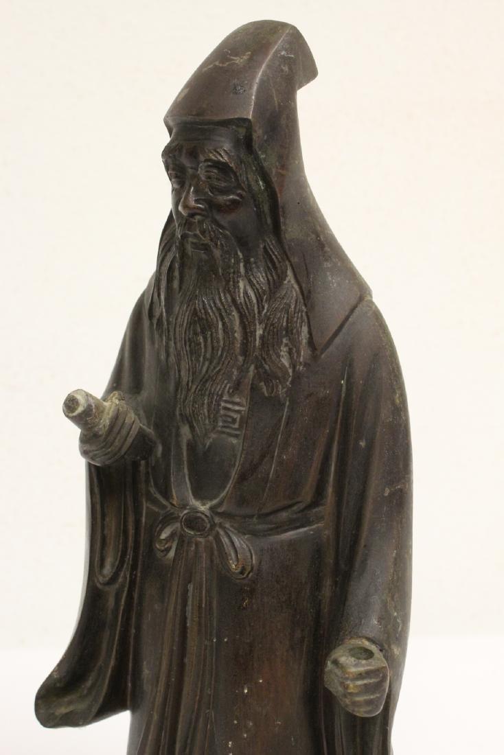 Bronze sculpture of scholar - 8