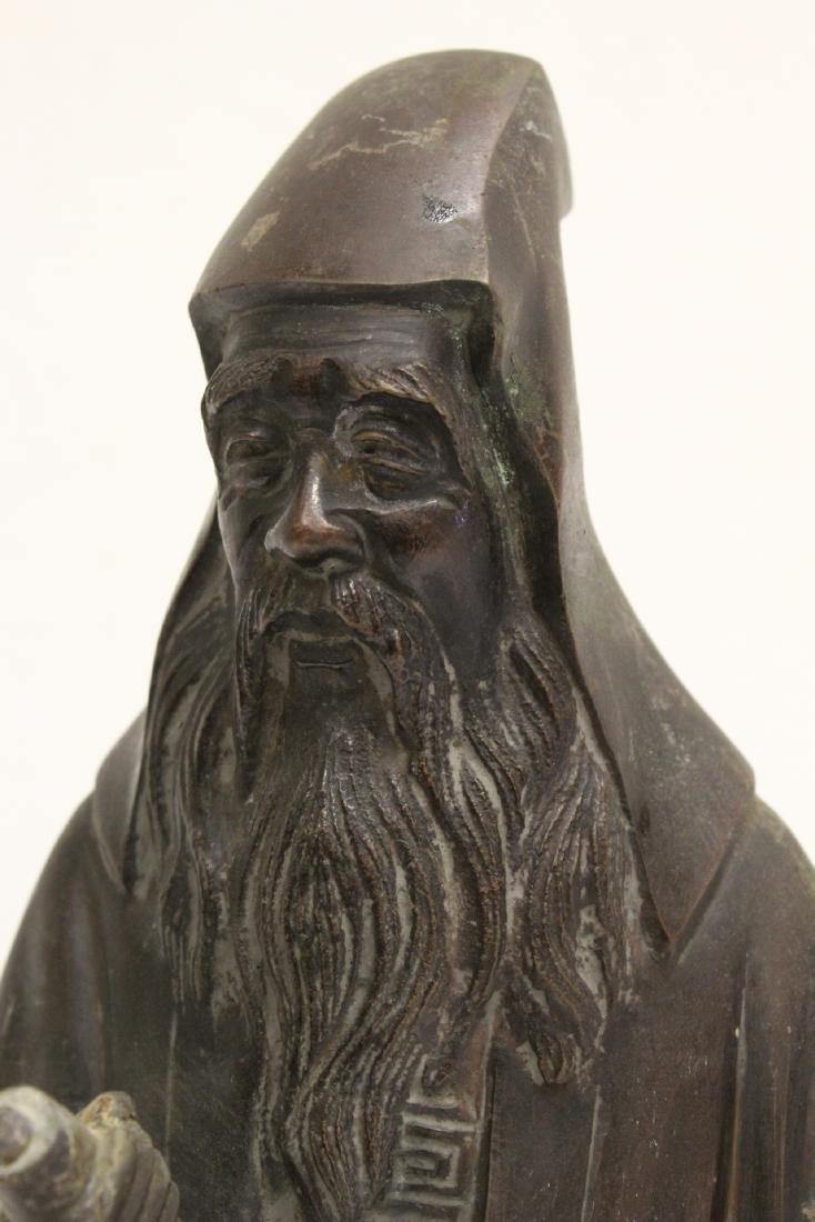 Bronze sculpture of scholar - 9