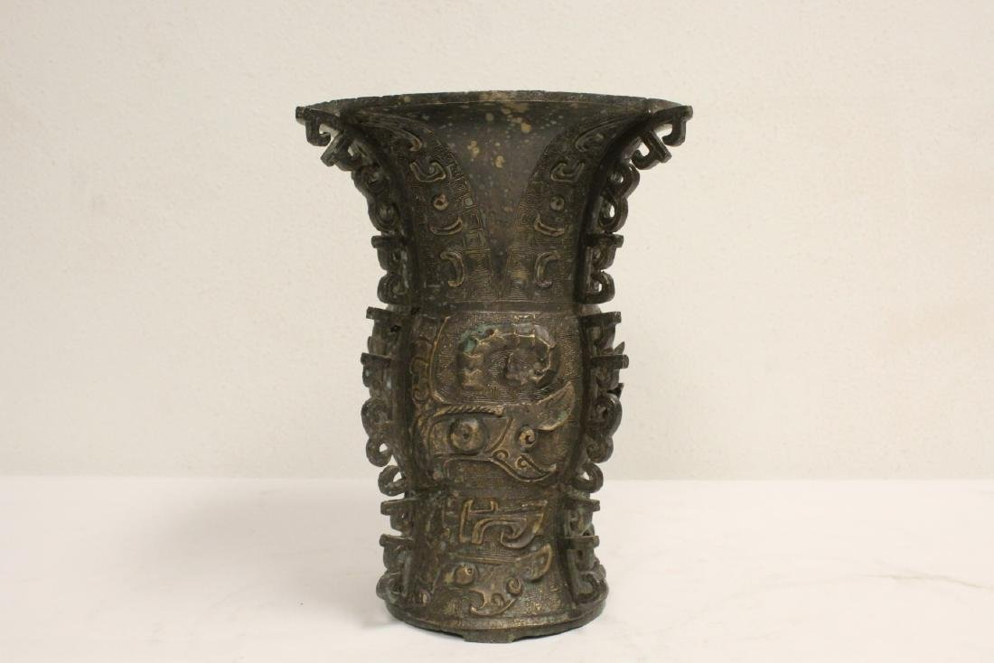 Chinese archaic style bronze vase - 2