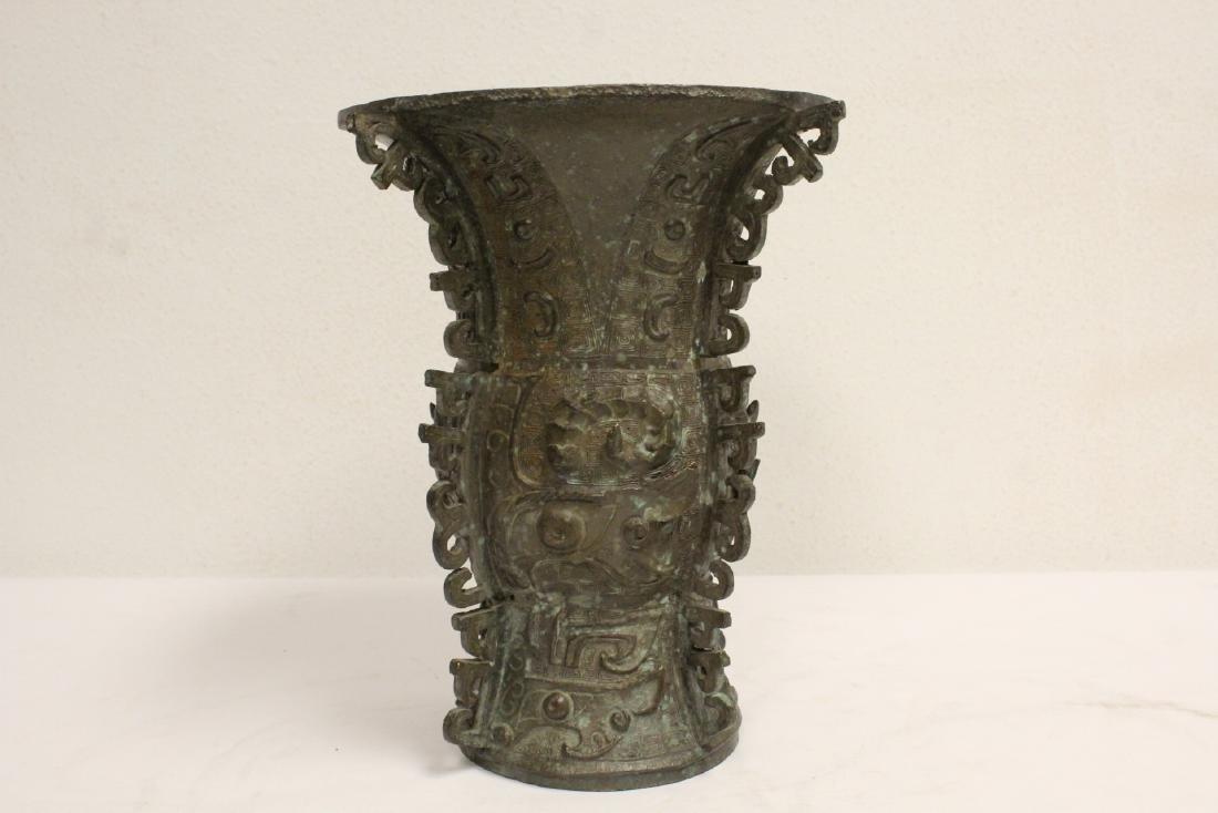Chinese archaic style bronze vase - 4