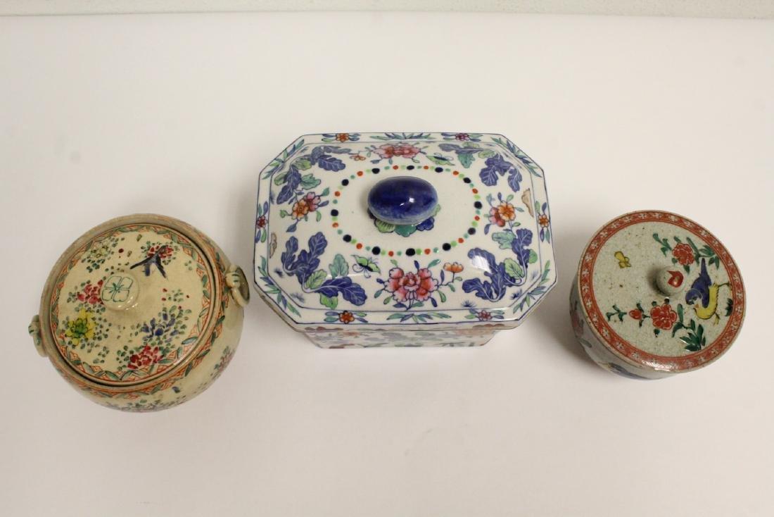 3 wucai porcelain covered box - 2