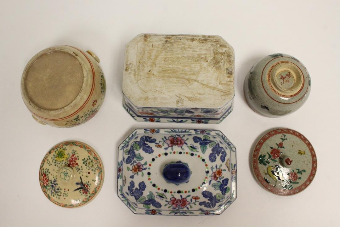3 wucai porcelain covered box - 4