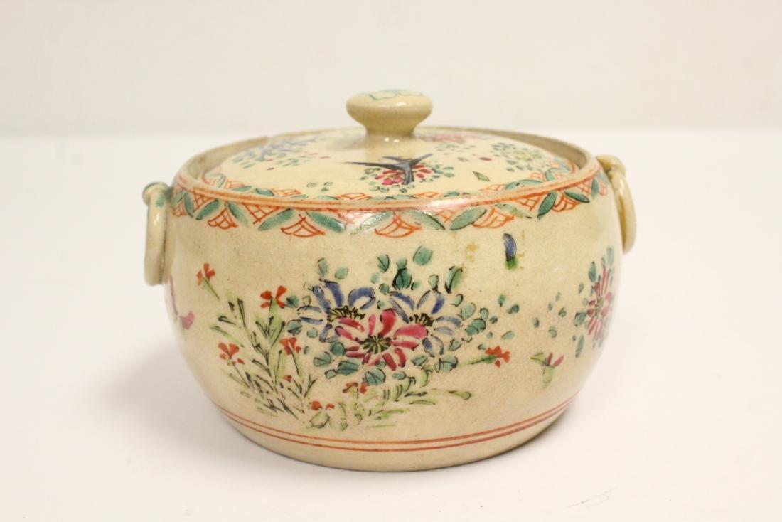 3 wucai porcelain covered box - 9