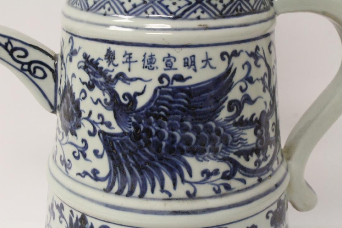 Chinese blue and white wine server - 10