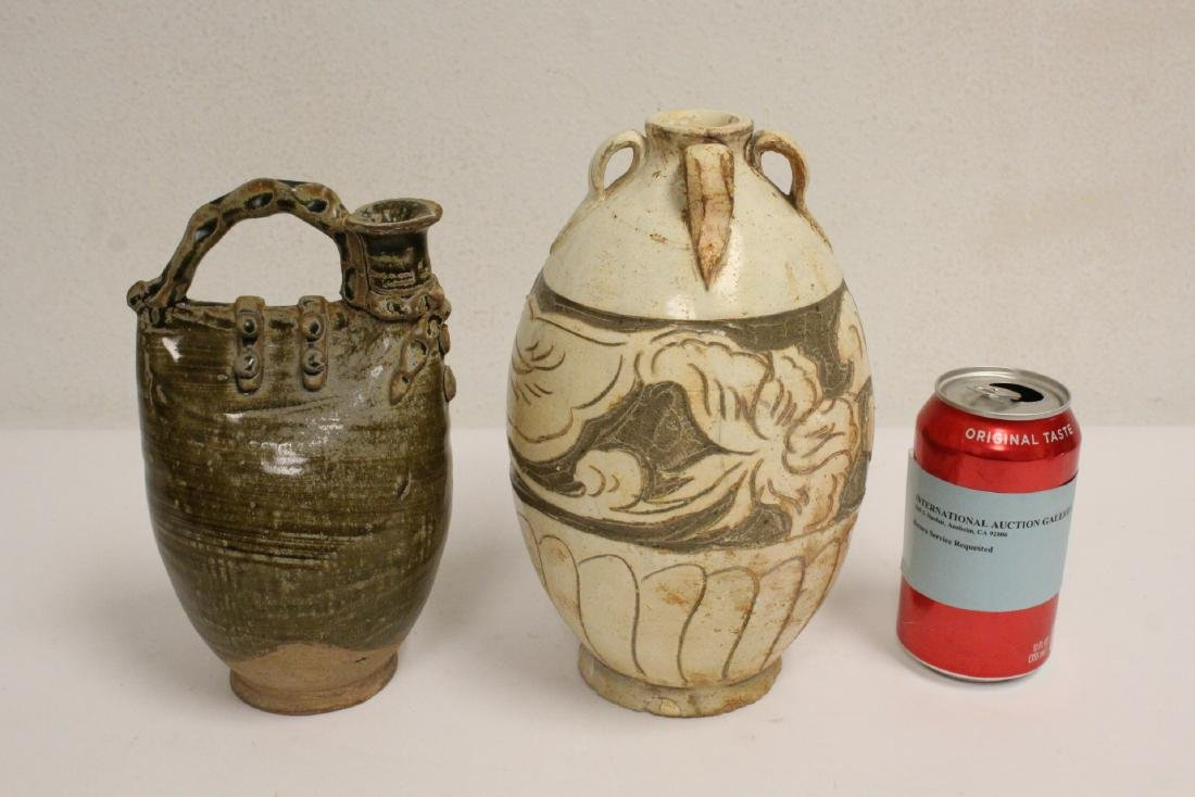 2 Song style handled vases