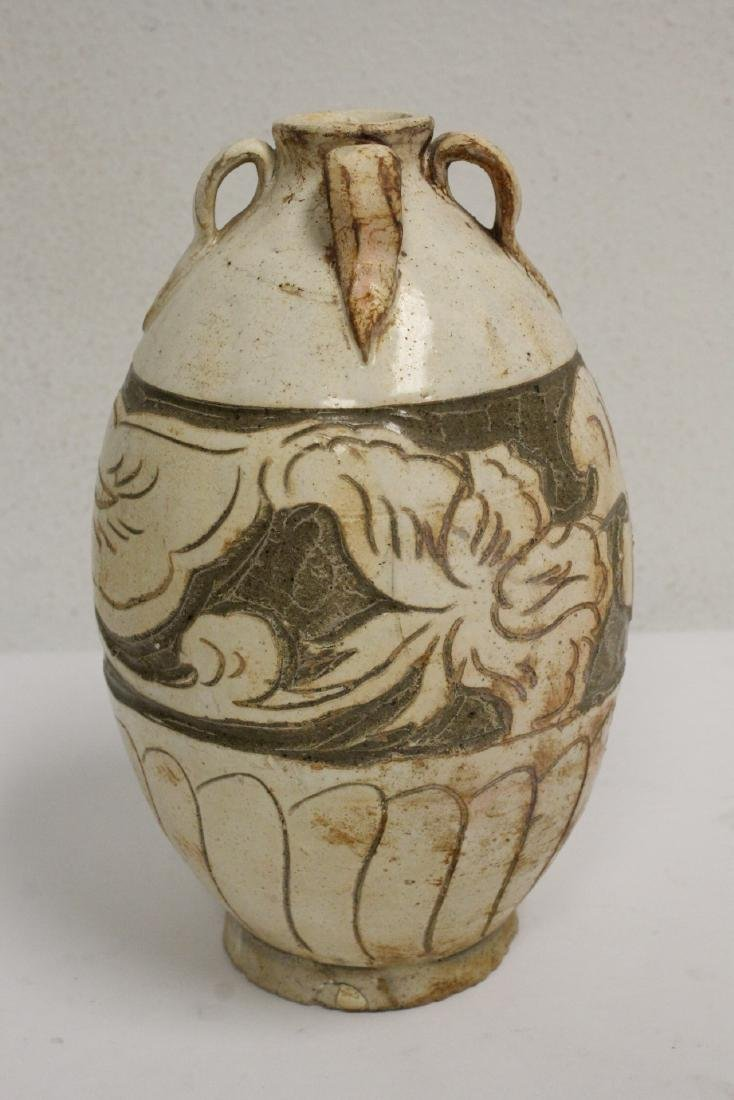 2 Song style handled vases - 2
