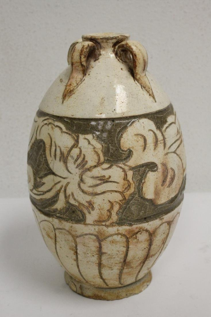 2 Song style handled vases - 3