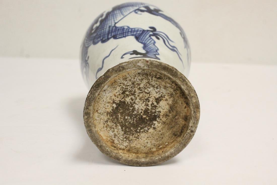 2 blue and white porcelain vases - 5