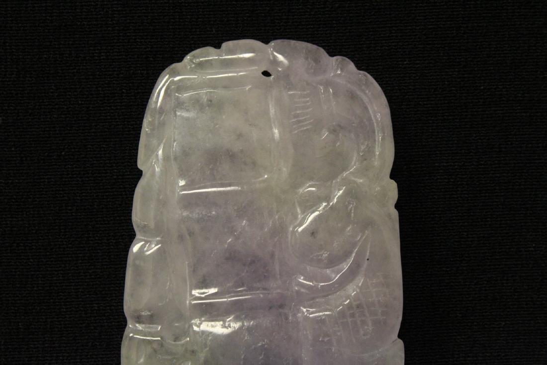 A fine translucent lavender jadeite plaque - 9