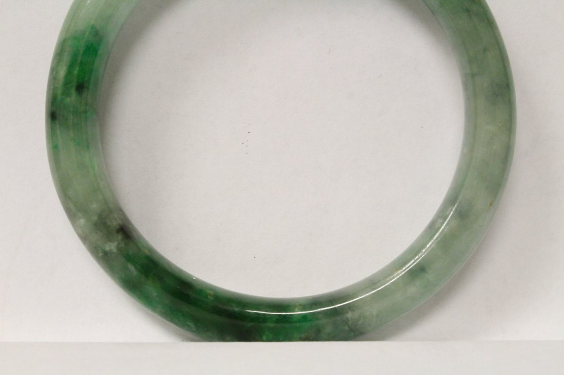 Jadeite bangle bracelet - 3