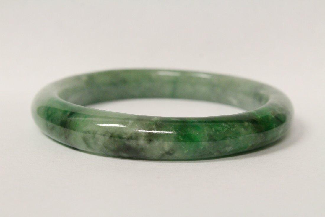 Jadeite bangle bracelet - 6