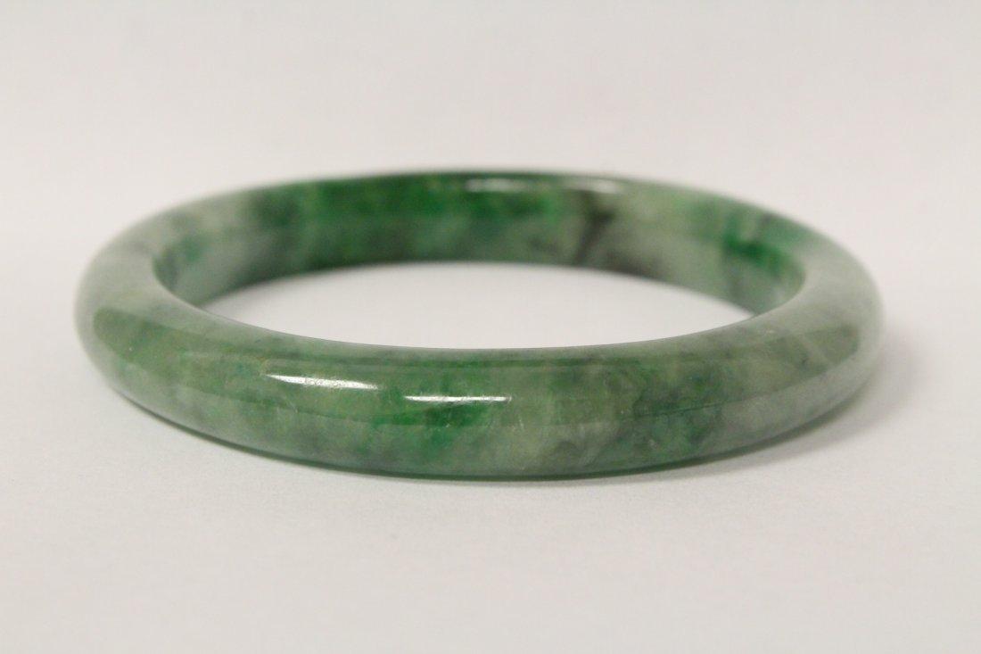 Jadeite bangle bracelet - 8