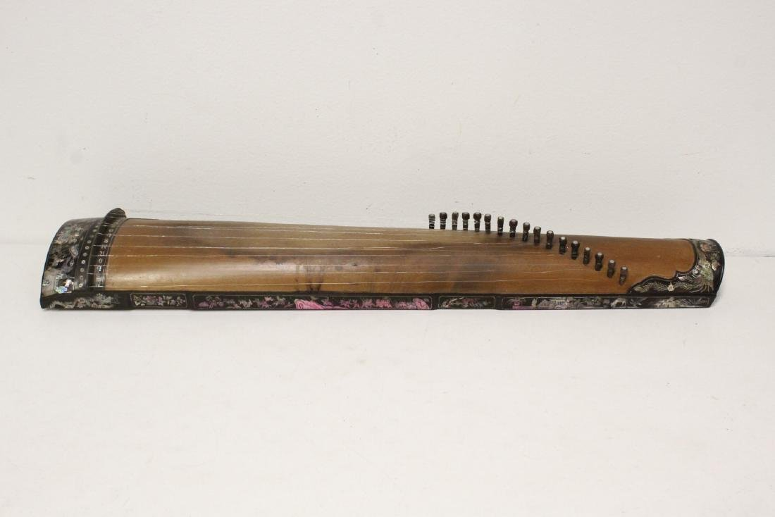 2 Chinese music instruments w/ MOP inlaid - 10