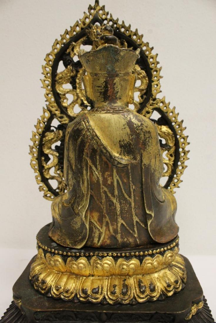 Pair Chinese bronze sculpture of Buddha - 10