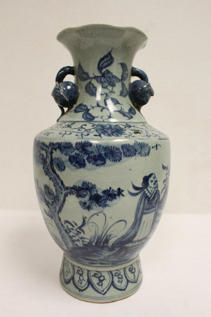 2 Chinse blue and white porcelain pieces - 9