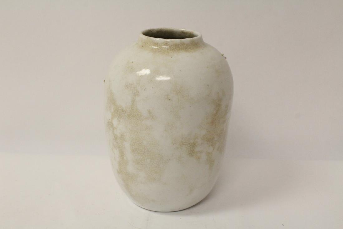 2 Chinese shoushan stone carvings & 2 porcelain vases - 5