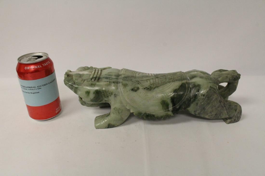 Jade like stone carved qilin - 2