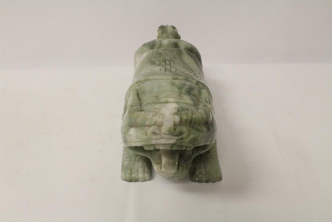 Jade like stone carved qilin - 5