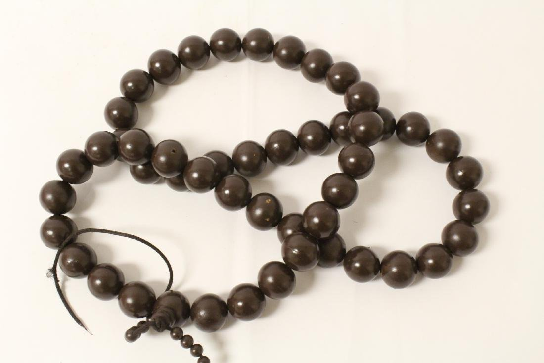 Large wood bead necklace and 2 bracelets - 4