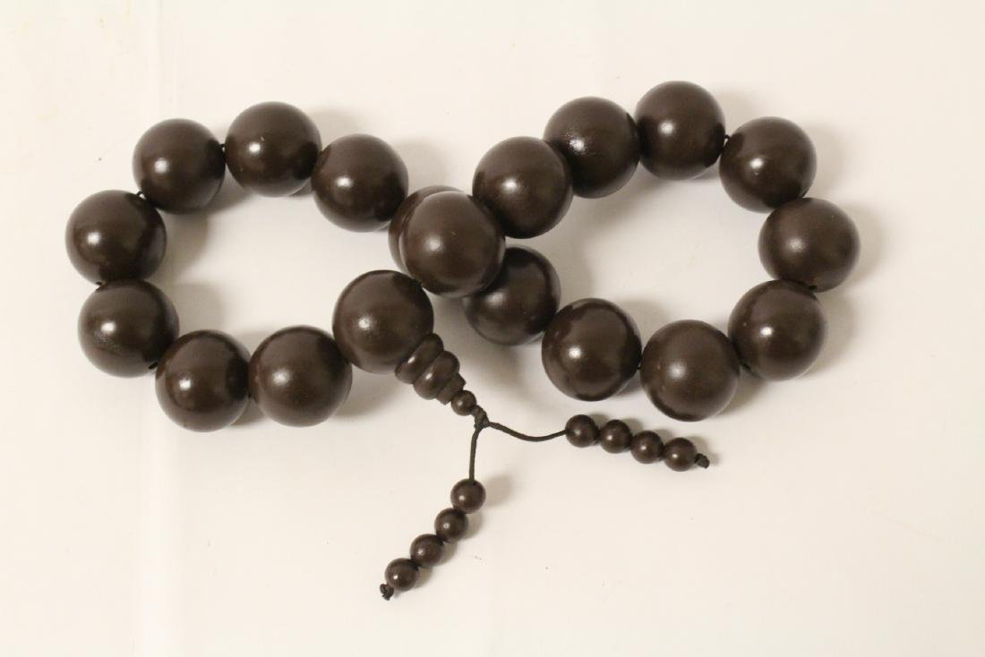 Large wood bead necklace and 2 bracelets - 7
