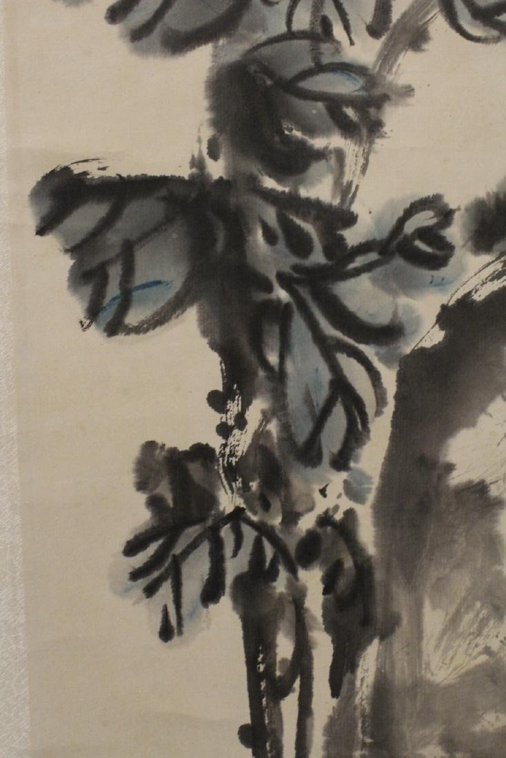 Chinese watercolor scroll depicting flowers - 10