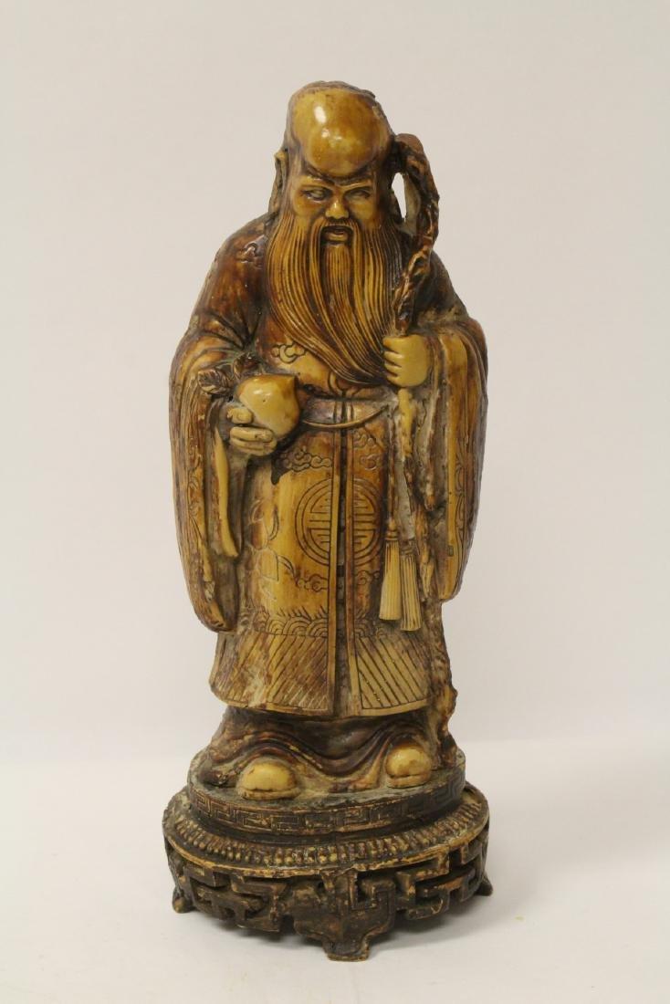 Chinese vintage carved porcelain(?) figure