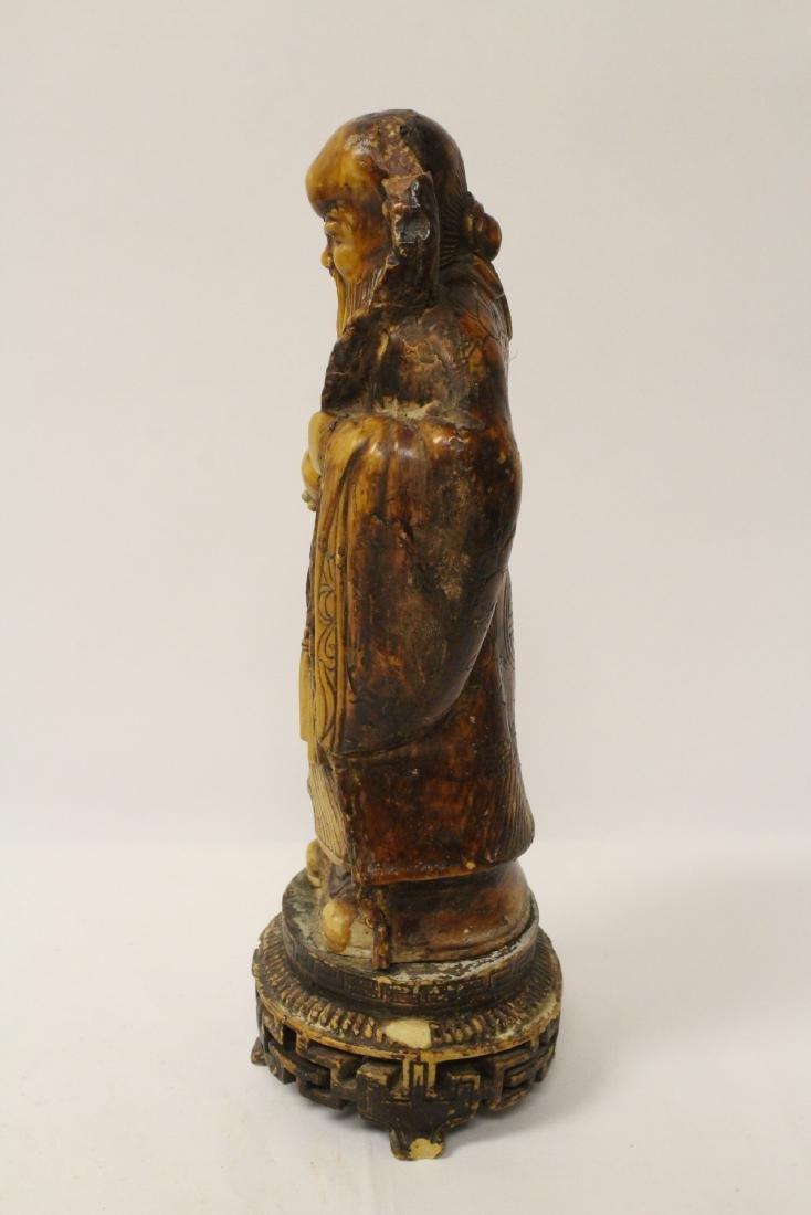 Chinese vintage carved porcelain(?) figure - 4