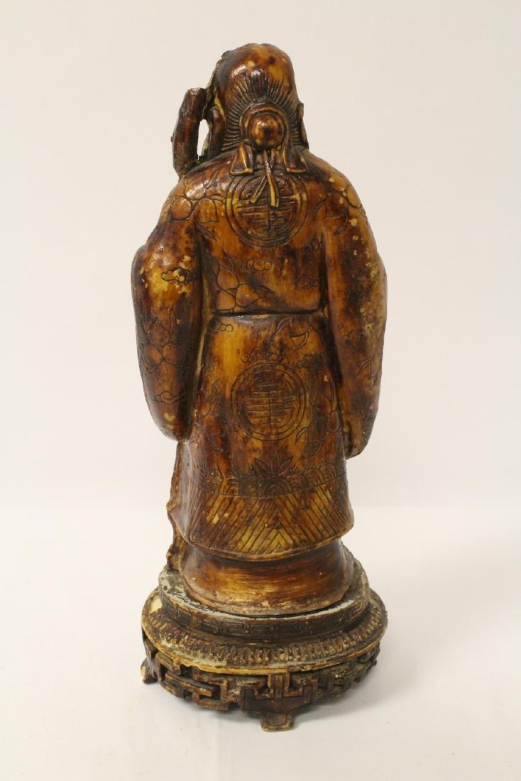 Chinese vintage carved porcelain(?) figure - 5