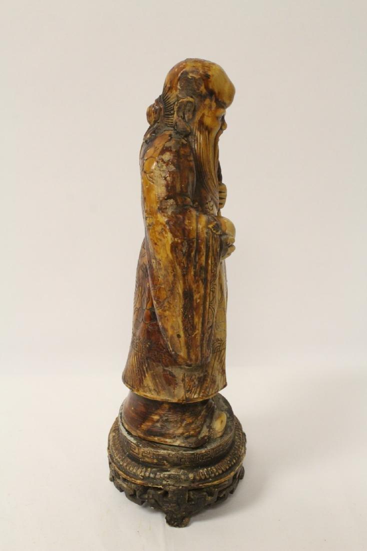 Chinese vintage carved porcelain(?) figure - 6