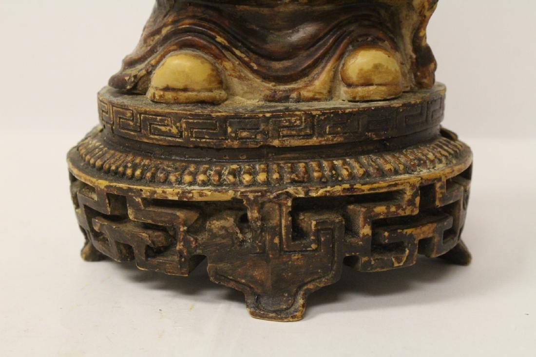 Chinese vintage carved porcelain(?) figure - 9