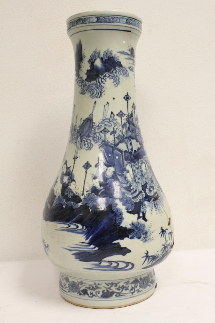 Chinese 18th c. or earlier lg b&w porcelain jar - 4