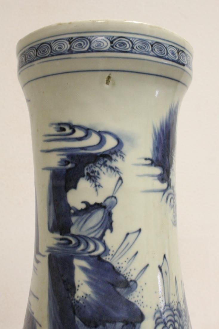 Chinese 18th c. or earlier lg b&w porcelain jar - 9