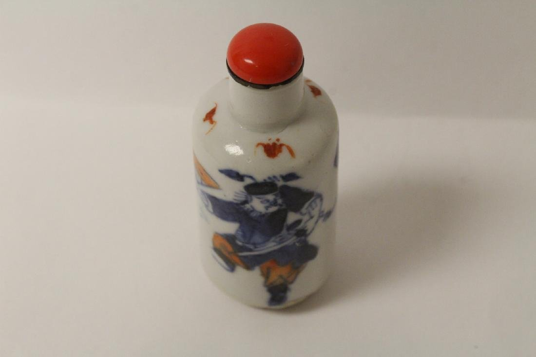 2 Chinese antique porcelain snuff bottles - 4