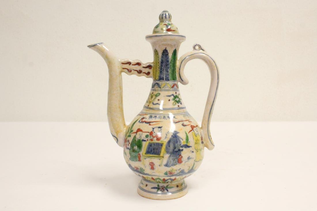 Chinese wucai porcelain wine server