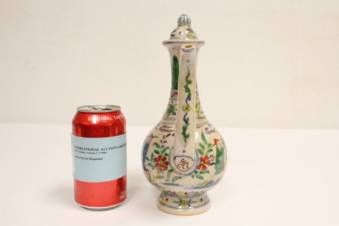 Chinese wucai porcelain wine server - 2